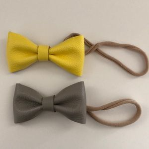 Little Poppy Co leather bows